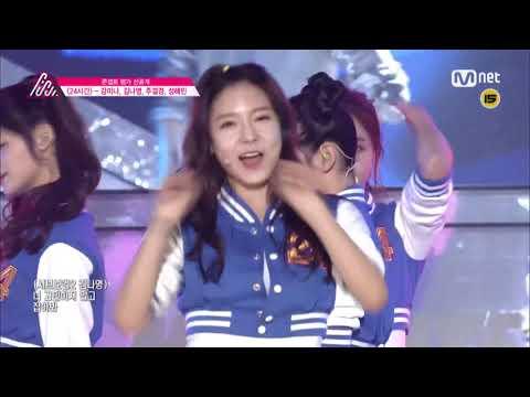 미나영,결경 - 24시간(24 Hours) (Produce101 Ep09)