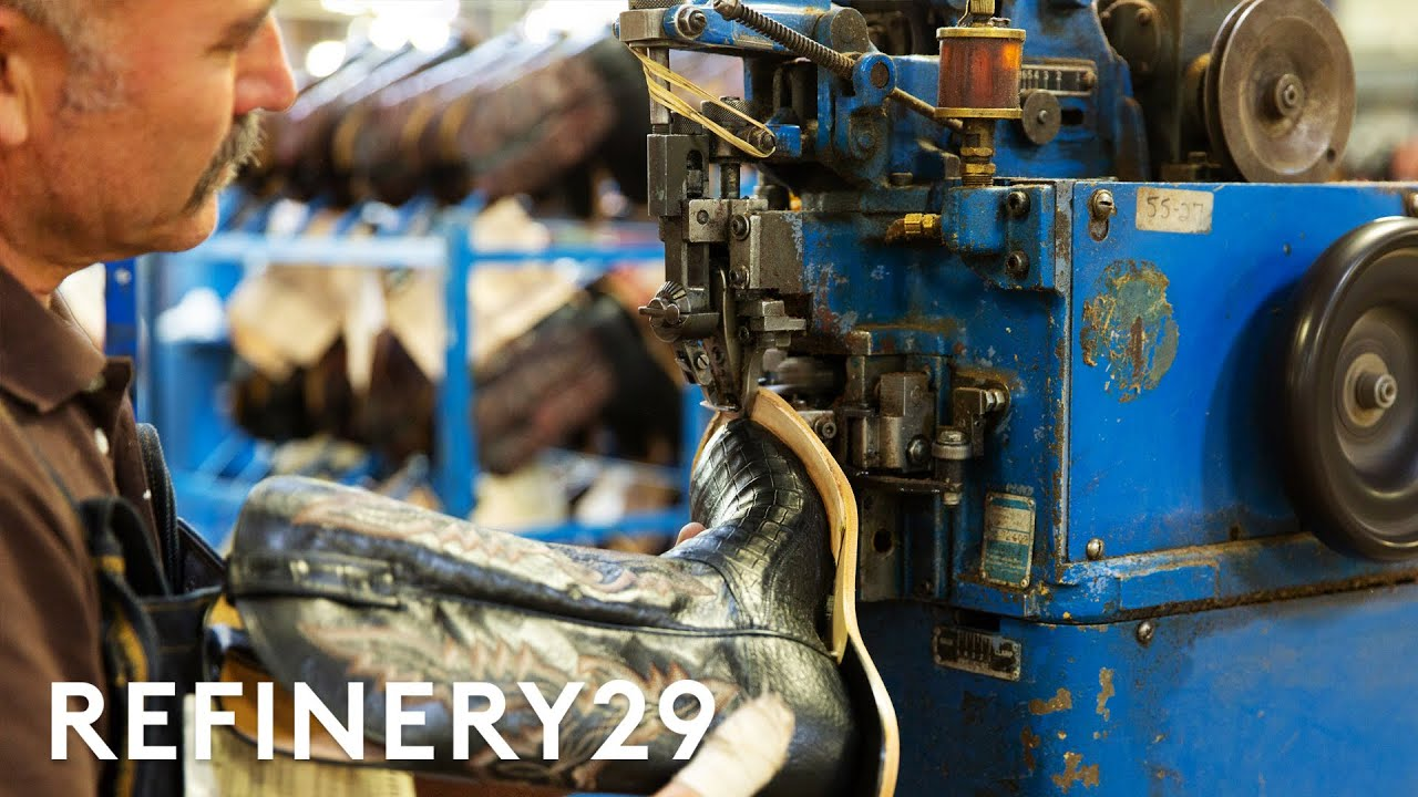 How $1,500 Cowboy Boots Are Made | How Stuff Is Made | Refinery29