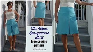 How to sew the Wear Everywhere Skirt - free pattern