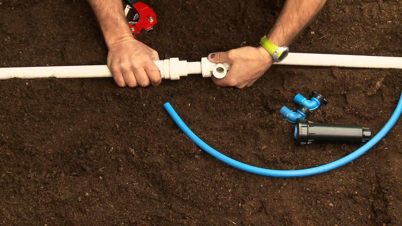 How To Repair PVC Sprinkler Pipe; Glueless Threaded Tee ...