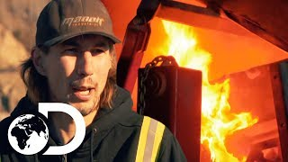 Parker Franticly Rushes to Save His Burning Wash Plant | NEW Gold Rush Season 9