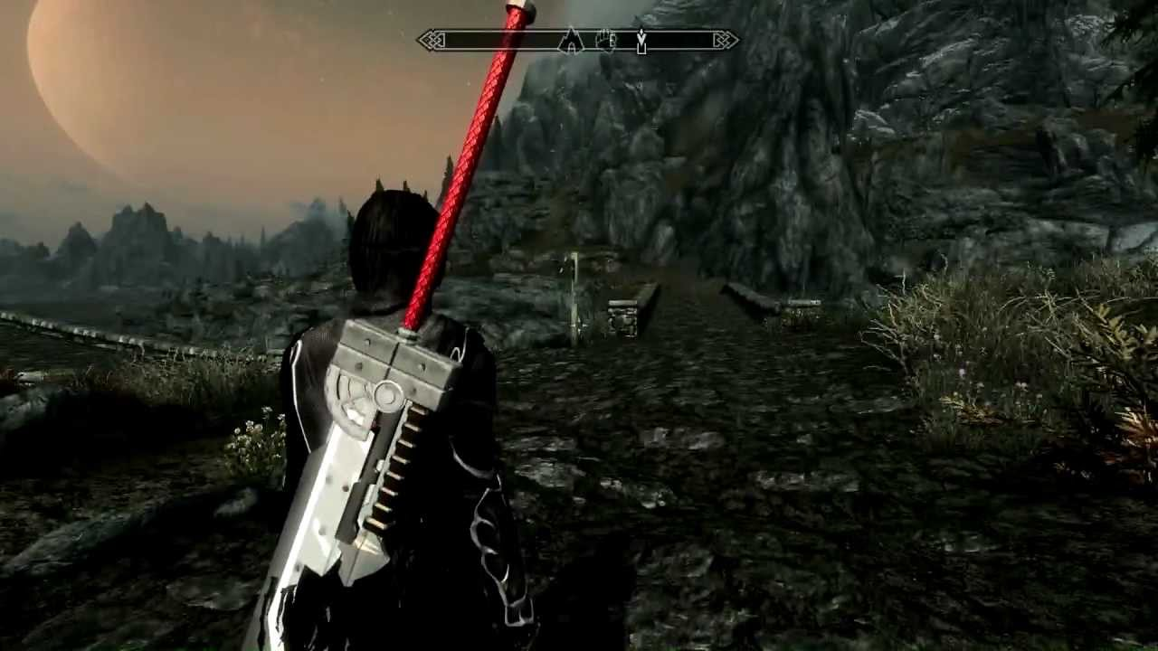Skyrim Mods Final Fantasy cloud sword