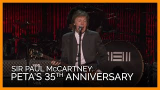 PETA's 35th Anniversary Party With Sir Paul McCartney