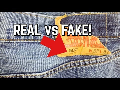 c04e5459953 LEVI'S JEANS | REAL VS FAKE | HOW TO SPOT FAKE LEVI'S JEANS! - YouTube