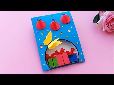 How To Make 3D Christmas Card//Handmade Easy Card Tutorial