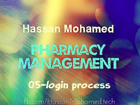 05-Pharmacy Management Project(Login Process)