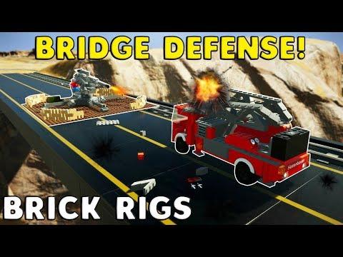 BRIDGE DEFENSE CHALLENGE! -  Brick Rigs Multiplayer Gameplay Challenge