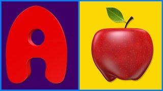 A B C D | Puzzle Games | ABCD Song | A to Z | ABCD | A for Apple | Alphabet Song | Cartoon Video