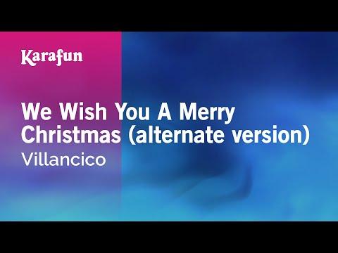 Karaoke We Wish You A Merry Christmas (alternate version) - Christmas Carol *