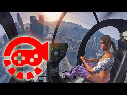 360° Video - Girlfriend Flying Helicopter First Time, GTAV VR