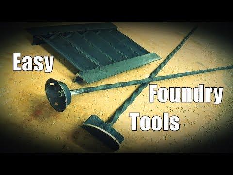 DIY: Easy Foundry Tools - Ingot Mold, Degassing Plunger & Dross Scoop