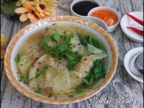 Bí quyết làm lá sủi cảo, nhân sủi cảo hoành thánh ngon giống người Hoa để kinh doanh|| Natha Food