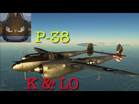 War Thunder SIM - P38 (LO & K) - E.C