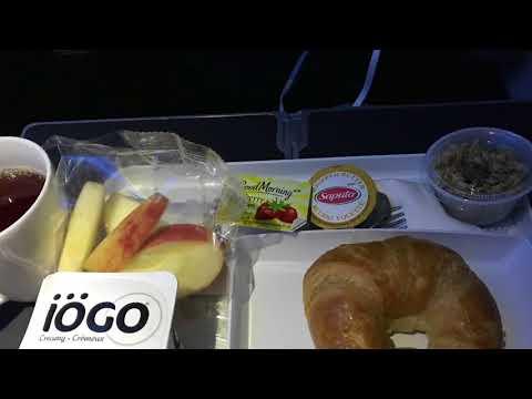 Westjet Economy Plus Boeing 767 enroute to London Gatwick