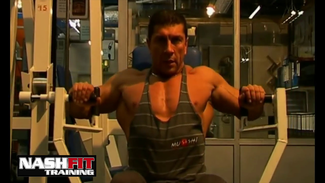 Beginner Workout Chest Seated Machine Press Youtube