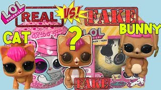 LOL Surprise Series 4 Pets Vs. FAKE LOL Dolls | Fake LQL Pet | LOL Series 4 LOL Decoder + Fake LOL