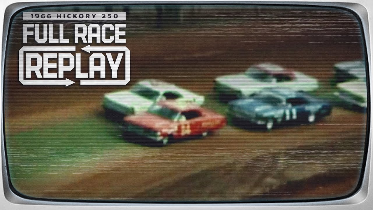 Classic NASCAR on dirt | 1966 Hickory 250 from Hickory Speedway | NASCAR Classic Dirt Race Replay