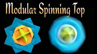 "Action Fun Toy Origami tutorial - Paper ""Modular Spinning Top / Beyblade"" -    ಬುಗುರಿ!"