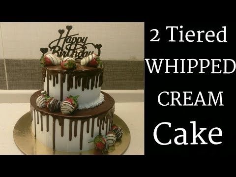 how-to-make-a-2-tiered-whipped-cream-cake-|-how-to-stack-a-two-tiered-whipped-cream-cake