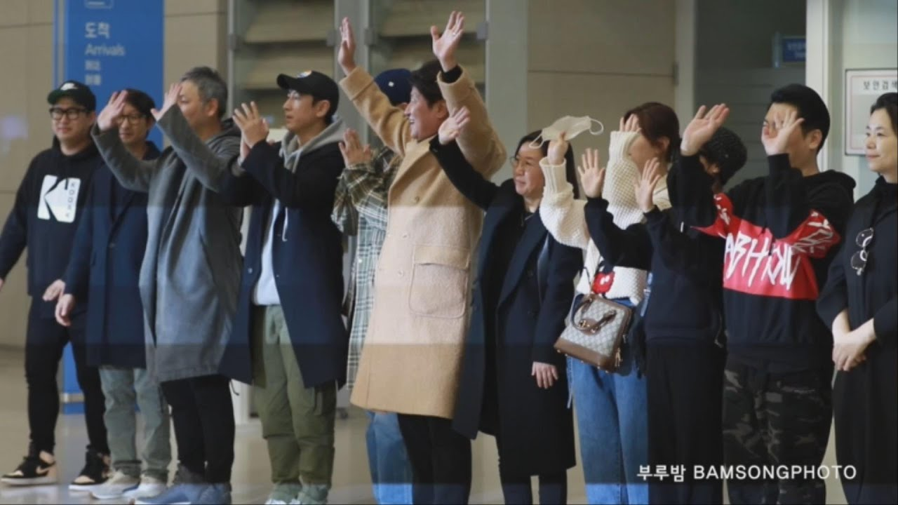 아카데미 4관왕 '기생충' 배우들 입국 현장 직캠 Parasite crew came back to Korea after winning four Oscars