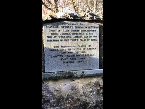 Robertson clan chiefs burial ground dunalastair estate