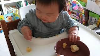 201014 바나나 먹기 (자기주도이유식)