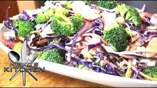Chopped Broccoli Salad With Tahini Dressing - Video Recipe