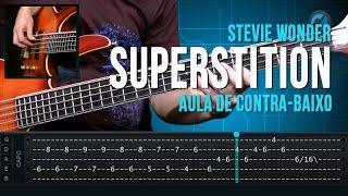 Stevie Wonder - Superstition (como tocar - aula de contra-baixo)