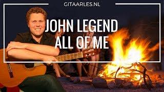 John Legend All of Me akkoorden op gitaar leren mee spelen