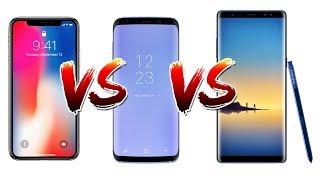 iPhone X vs Galaxy S8 vs Note 8