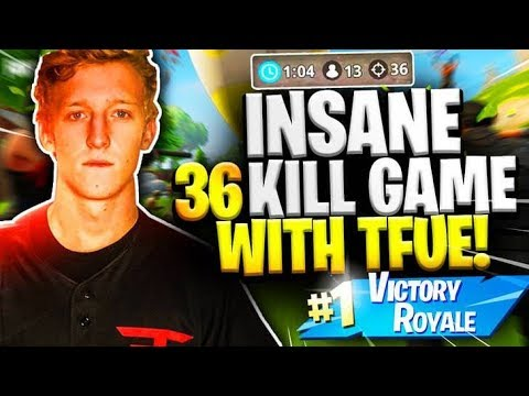 36 Kill duo squad game with Tfue! 20 Bombs for days!