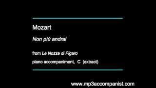 Mozart: Non più andrai (Le Nozze di Figaro) - Piano Accompaniment