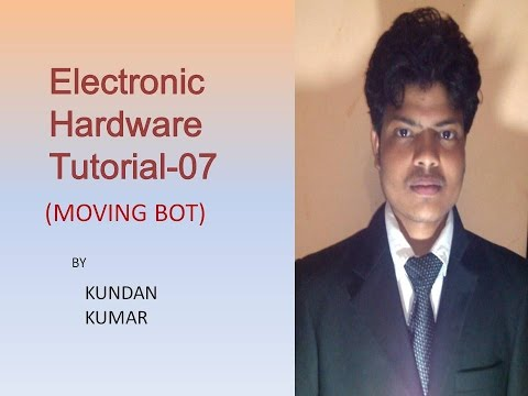 Electronic hardware tutorial 7 || (how to make moving robot) ||