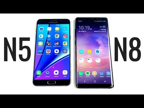 Samsung Galaxy Note 5 vs Galaxy Note 8 Speed Test!