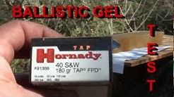 Hornady 40 S&W 180gr TAP ballistic gel test