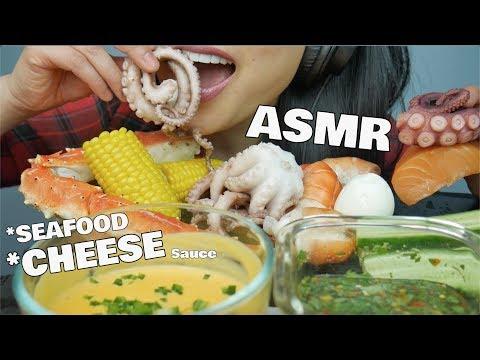 ASMR SEAFOOD BOIL *CHEESE Sauce (EATING SOUNDS) NO TALKING | SAS-ASMR