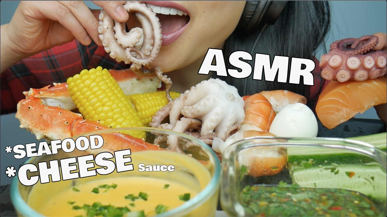 Asmr Seafood Boil Cheese Sauce Eating Sounds No Talking Sas Asmr Youtube Listening to whisper voice and eating sounds are some examples that trigger asmr. asmr seafood boil cheese sauce eating sounds no talking sas asmr