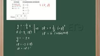 Определение уравнения прямой, проходящей через точку