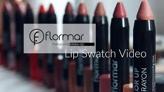Flormar Lip Crayon Swatches