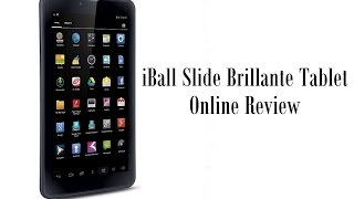 iBall Slide Brillante Tablet Online Review