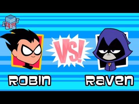 Teeny Titans Robin vs Raven Cartoon Network iOS Gameplay
