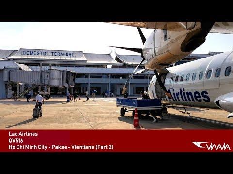 TRIP REPORT | Lao Airlines (ECONOMY) | Pakse - Vientiane | ATR 72