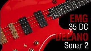 EMG 35 DC + Delano Sonar 2 // Maruszczyk Frog Headless 4a Headless