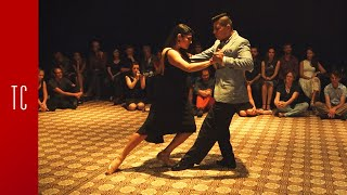 Tango: María Inés Bogado y Jorge López, 29/9/2016, Patio de Tango 1/4