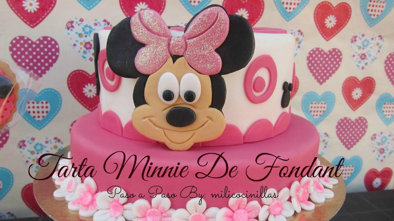 Tarta Minnie de Fondant step by Step  YouTube
