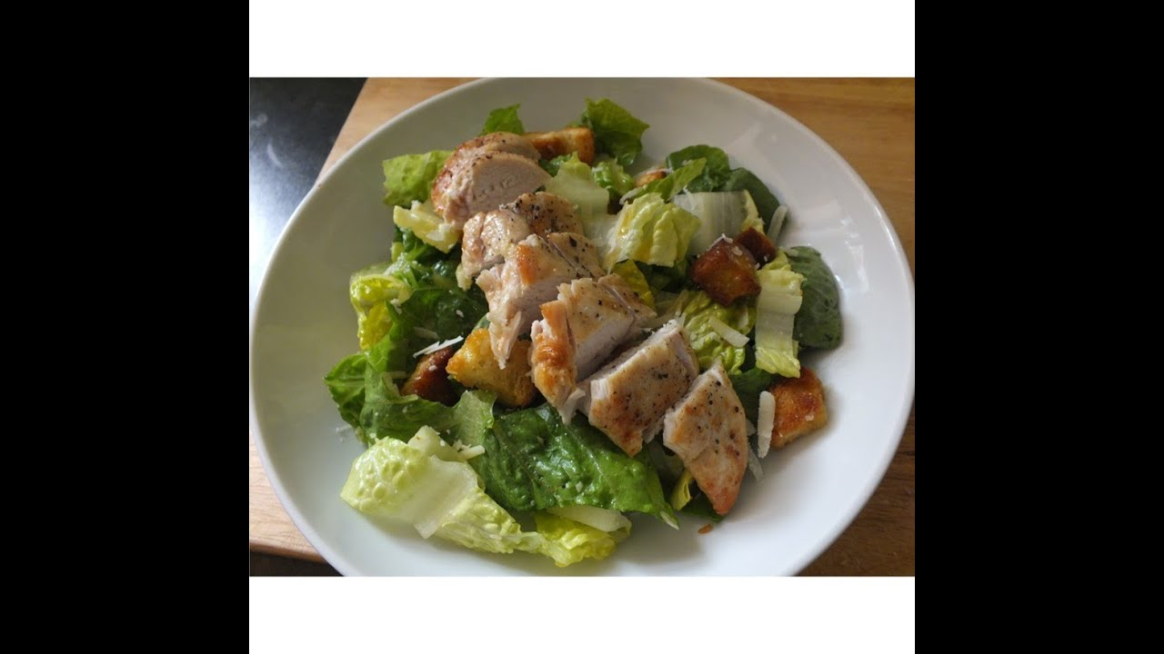 homemade grilled chicken caesar salad using original dressing recipe ingredients youtube. Black Bedroom Furniture Sets. Home Design Ideas