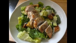 Homemade Grilled Chicken Caesar Salad Using Original Dressing Recipe Ingredients