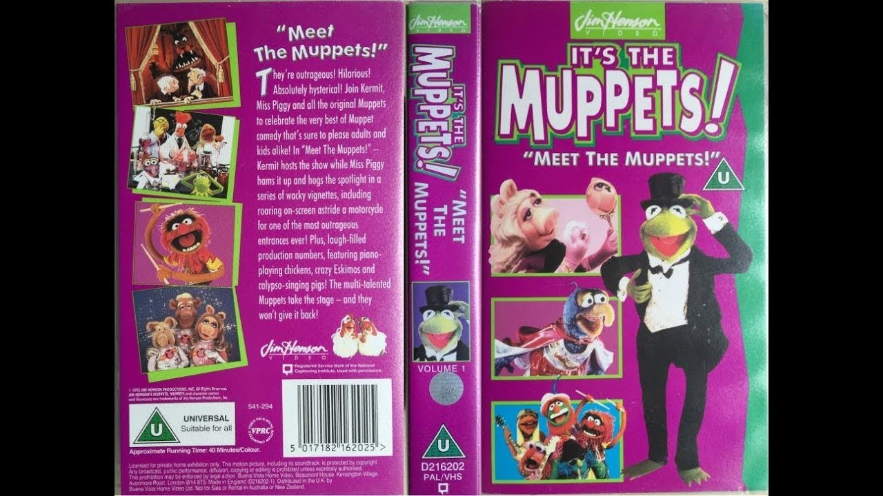 """It's the Muppets! - """"Meet the Muppets!"""" [UK VHS] (1994 ... The Muppet Movie Vhs 1994"""