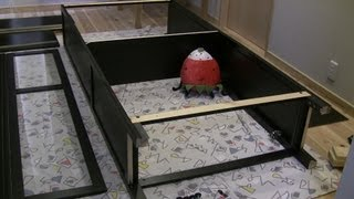 【diy】家具の組立に挑戦!02(イケア)(ガラス扉付き本棚)(ヘムネス)(hemnes)【全08回】 i Challenge Assembling Of The Furniture
