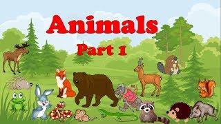 Animals Part 1. Животные. Часть 1. Английский для детей. English for kids.